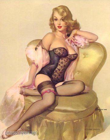 elvgren_Sitting_Pretty_Lola_1955