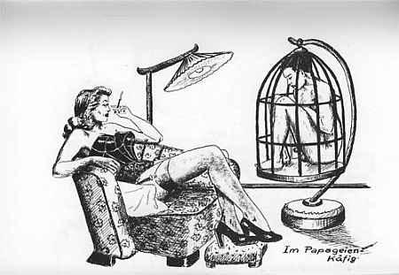 german-Femdom-Art-Male-Slave-Tiny-Cage