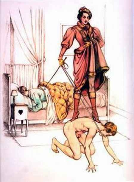 Woman-Standing-on-Male-Slave